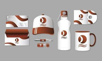 conjunto de maquete de branding e marketing