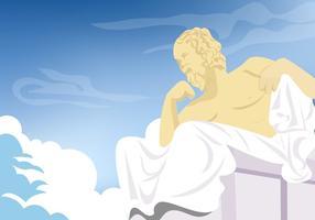 vetor de fundo de escultura de Sócrates