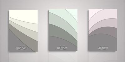 conjunto de capas de camadas de corte de papel