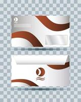 ícone isolado de maquete de marca de envelope vetor