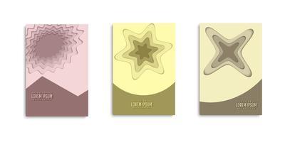 conjunto de capas de camadas de corte de papel de forma abstrata