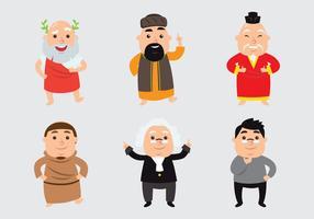 Conjunto de desenhos animados filósofos vetor