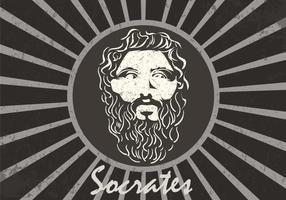 Figura de fundo de Sócrates vetor