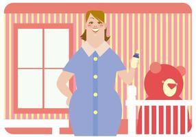 Vetor de babá sorridente