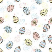 padrão sem emenda de ovos de páscoa vetor