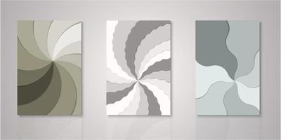conjunto de capas de corte de papel de camadas de cata-vento
