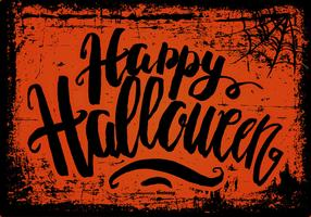 Spooky Grunge Happy Halloween Background vetor