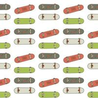 padrão sem emenda skatebord vetor