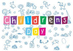 Fundo do padrão do dia das crianças vetor