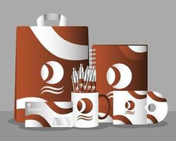 conjunto de maquete de branding e marketing