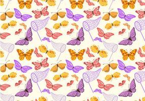 Vetores de padrões de borboleta grátis