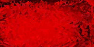 desenho de polígono gradiente vermelho escuro.
