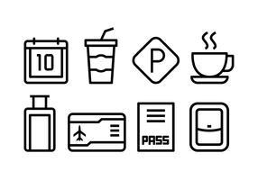 conjunto de ícones do aeroporto gratuito vetor