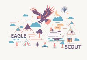 vetor paisagem águia scout