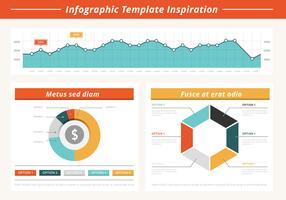 Elementos vetoriais de infografia plana grátis vetor