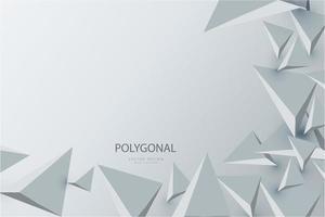design moderno de triângulos 3D cinza. vetor