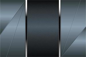 Painéis angulares em azul metálico com textura de fibra de carbono vetor