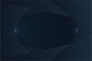 painéis metálicos em camadas marinho escuro com fibra de carbono vetor