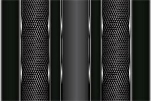 Painéis de textura de fibra de carbono e preto metálico vetor