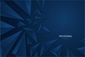 design moderno de triângulos 3d metálicos azuis escuros. vetor