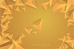 design moderno de triângulos gradiente 3d laranja. vetor