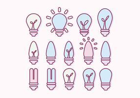 Coleção de lâmpadas de vetores