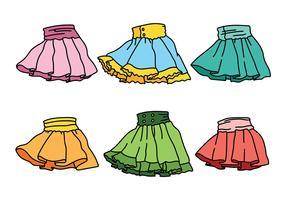Frills com ícones vetoriais de saias vetor