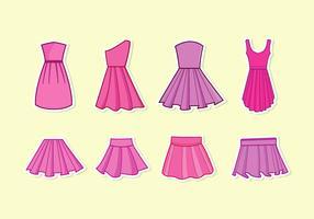 vetor de vestido frilly