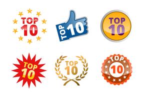 top 10 emblema vetor
