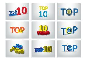 conjunto de design de vetores top 10