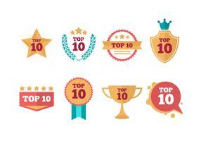 Coleção de vetores Top Ten grátis