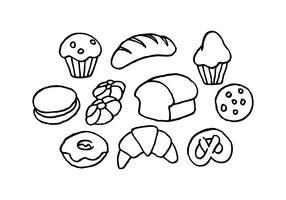 vetor de ícone de esboço de pão grátis