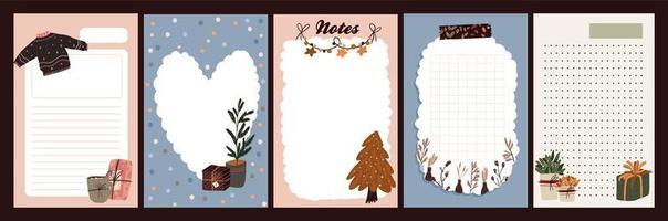 diário de férias de natal, bloco de notas