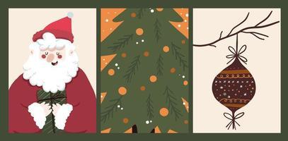 adesivo de feriado de natal, diário, conjunto de notas