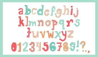 alfabeto de natal fofo