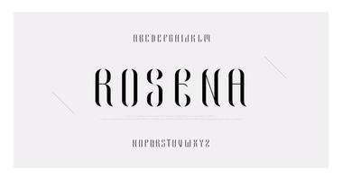 alfabeto maiúsculo de moda minimalista elegante