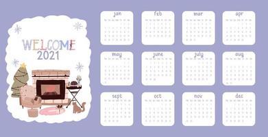calendário natal 2021 vetor