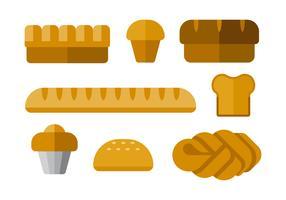 Ícones simples do vetor de pães