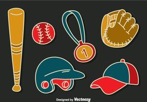 vetor de coleção de elementos de softball