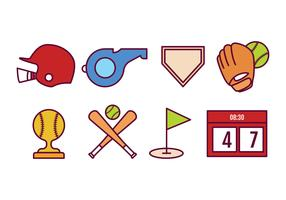 pacote de softball icon vetor