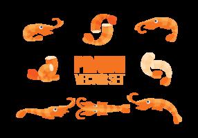 Vetor de ícones de camarão
