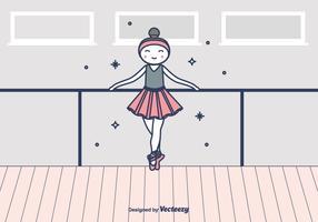 Ilustração vetorial da bailarina