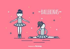 Ilustração vetorial das bailarinas