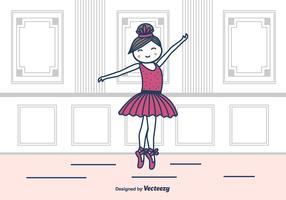 Ballerina In Studio Ilustração vetorial