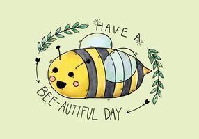 Vector de caracteres de abelha de aguarela