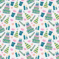 padrão de fundo do bolo de aniversário vetor
