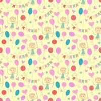 feliz aniversário padrão sem emenda