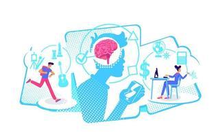 multitarefa pensando maneiras vetor