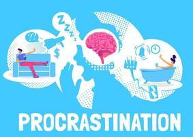 design de cartaz de procrastinação vetor