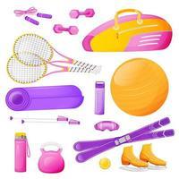 equipamento de aeróbica feminina